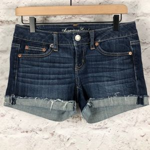NWOT AEO Stretch Jean Frayed Shorts Sz 4